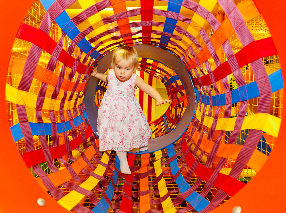Toddler Girl at Bobo's Indoor Playground in Nashua, NH